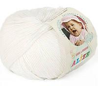 Детская пряжа Alize Baby Wool белый №55