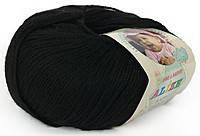 Детская пряжа Alize Baby Wool черный №60