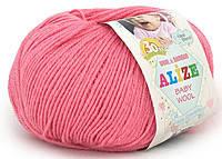 Детская пряжа Alize Baby Wool темно-розовый №33