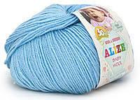 Детская пряжа Alize Baby Wool светло-голубой №350