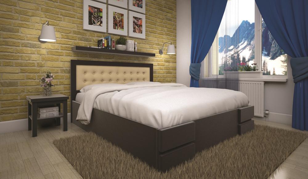 Кровать полуторная с натурального дерева в спальню ТИС КАРМЕН 120*190 сосна