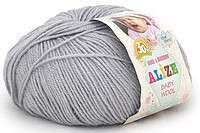 Детская пряжа Alize Baby Wool талая вода №52