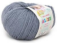 Детская пряжа Alize Baby Wool серый №119