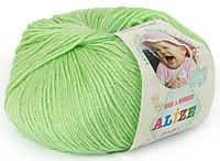 Детская пряжа Alize Baby Wool ментол №41