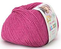 Детская пряжа Alize Baby Wool цикламен №489