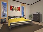 Кровать полуторная с натурального дерева в спальню ТИС КОРОНА 1 120*190 сосна, фото 2
