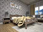 Кровать полуторная с натурального дерева в спальню ТИС КОРОНА 2 120*190 сосна, фото 2