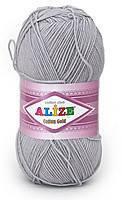 Пряжа летняя Alize Cotton Gold серый №21