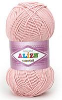 Пряжа летняя Alize Cotton Gold пудра №161