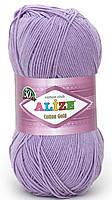 Пряжа летняя Alize Cotton Gold лиловый №166