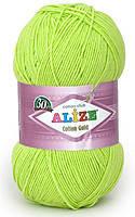 Пряжа летняя Alize Cotton Gold зеленый неон №612