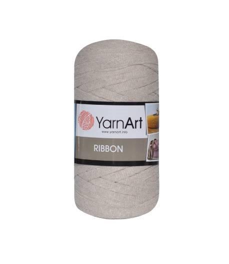 Ленточная пряжа Yarnart Ribbon 60% хлопок + 40% акрил 753 светлый холодный беж