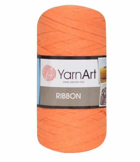 Ленточная пряжа Yarnart Ribbon 60% хлопок + 40% акрил 770 оранж