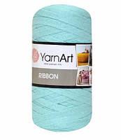 Ленточная пряжа Yarnart Ribbon 60% хлопок + 40% акрил 775 мята