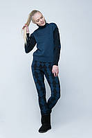 SEWEL Свитер SW397 (46-48, темно-синий, ультрамарин меланж, 100% акрил)