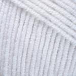 Пряжа летняя YarnArt Jeans цвет белый 01