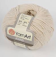 Пряжа летняя YarnArt Jeans цвет светлый беж № 05