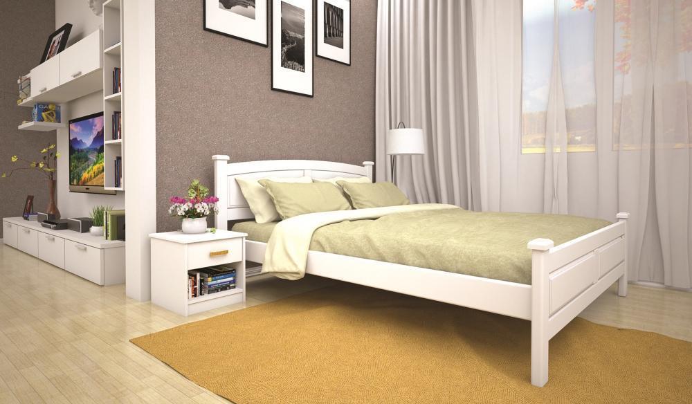 Кровать полуторная с натурального дерева в спальню ТИС МОДЕРН 11 120*190 сосна