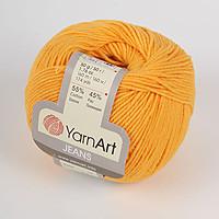 Пряжа летняя YarnArt Jeans цвет желтый № 35