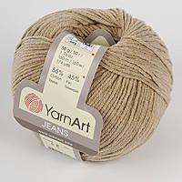 Пряжа летняя YarnArt Jeans цвет бежевый № 48
