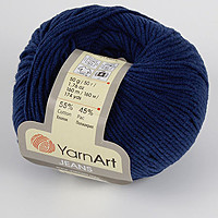 Пряжа летняя YarnArt Jeans цвет темно-синий № 54