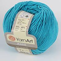 Пряжа летняя YarnArt Jeans цвет бирюзовый № 55