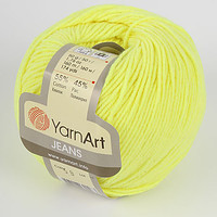 Пряжа летняя YarnArt Jeans цвет лимонный № 58