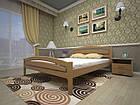 Кровать полуторная с натурального дерева в спальню ТИС МОДЕРН 2 120*190 сосна, фото 2