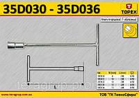 Ключ торцевой Т-образный 10мм,  TOPEX  35D031