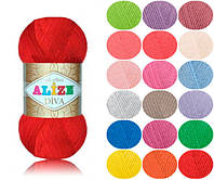 Пряжа летняя Alize Diva оттенок согласно карте цветов