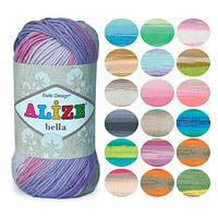 Пряжа летняя Alize Bella Batik оттенок согласно карте цветов