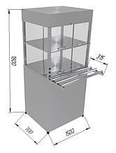 Прилавок охлаждаемый с кубом ПВХК