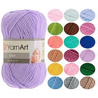 Детская пряжа YarnArt Baby оттенок согласно карте цветов