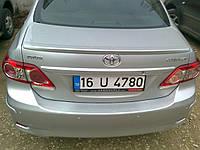 Спойлер (под покраску) Toyota Corolla