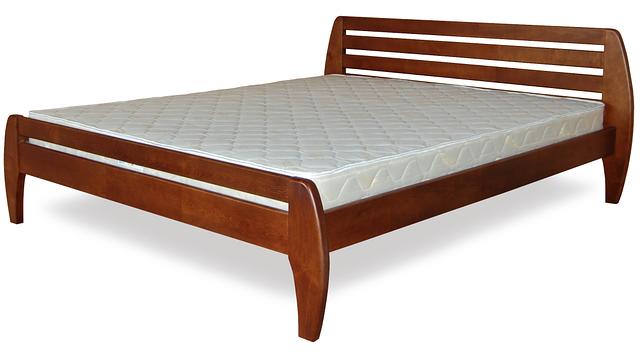 Кровать полуторная с натурального дерева в спальню ТИС НОВЕ 1 120*190 сосна