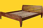 Кровать полуторная с натурального дерева в спальню ТИС НОВЕ 1 120*190 сосна, фото 2