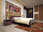 Кровать полуторная с натурального дерева в спальню ТИС НОВЕ 1 120*190 сосна, фото 3