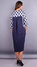Женское платье трикотажное демисезонное большие размеры: 52-64, фото 3