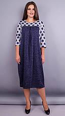 Женское платье трикотажное демисезонное большие размеры: 52-64, фото 2