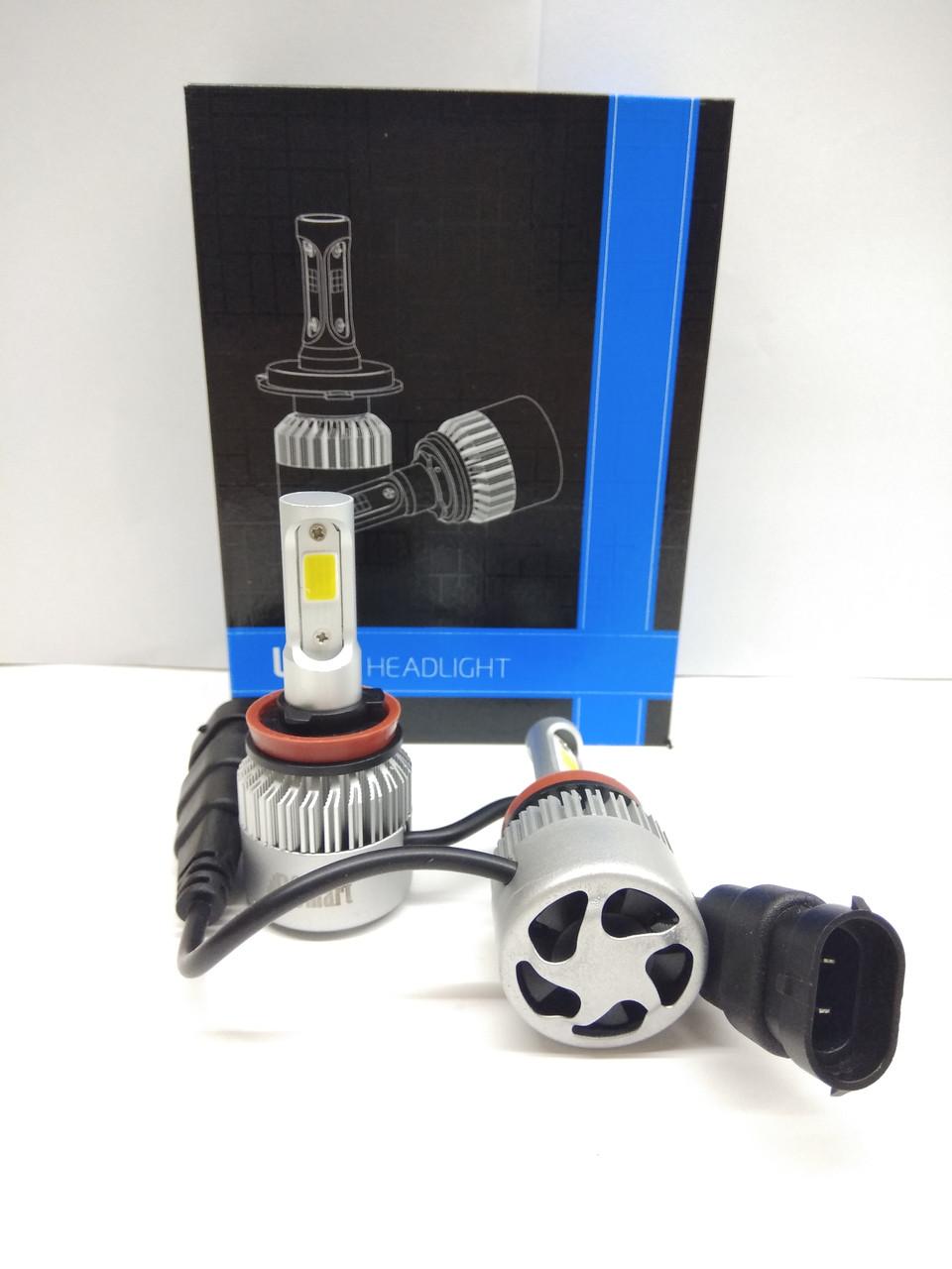 Комплект автоламп LED  S2 COB, H8, 8000LM, 72W, 12-24V