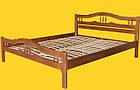 Кровать полуторная с натурального дерева в спальню ТИС ЮЛІЯ 2 120*190 сосна, фото 2