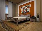 Кровать полуторная с натурального дерева в спальню ТИС ЮЛІЯ 2 120*190 сосна, фото 3