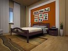 Кровать полуторная с натурального дерева в спальню ТИС ЮЛІЯ 2 120*190 сосна, фото 5