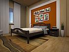 Кровать полуторная с натурального дерева в спальню ТИС ЮЛІЯ 2 120*190 сосна, фото 6