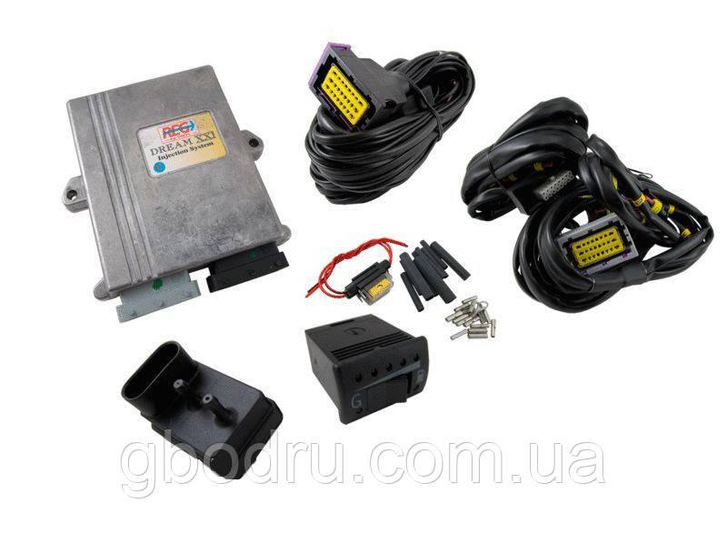 Комплект электроники системы DREAM XXI N 3-4 цил., EURO-4 (ECU, жгут проводов, переключатель г/б, МАР сенсор),