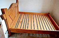 Кровать под старину (двухспальная с декоративной кроватной спинкой)