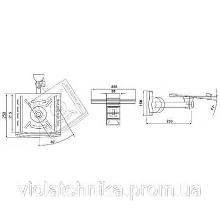 Кронштейн для акустических колонок Electriclight КБ-01-25, фото 2