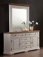 """Будуарный стол + зеркало """"Калифорния"""" (античный белый)"""