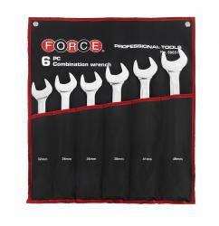 Набор комбинированных ключей на полотне 6 пр. (32 - 46 мм) FORCE 50651