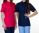 Женская медицинская куртка Мико, тк.Коттон , фото 2